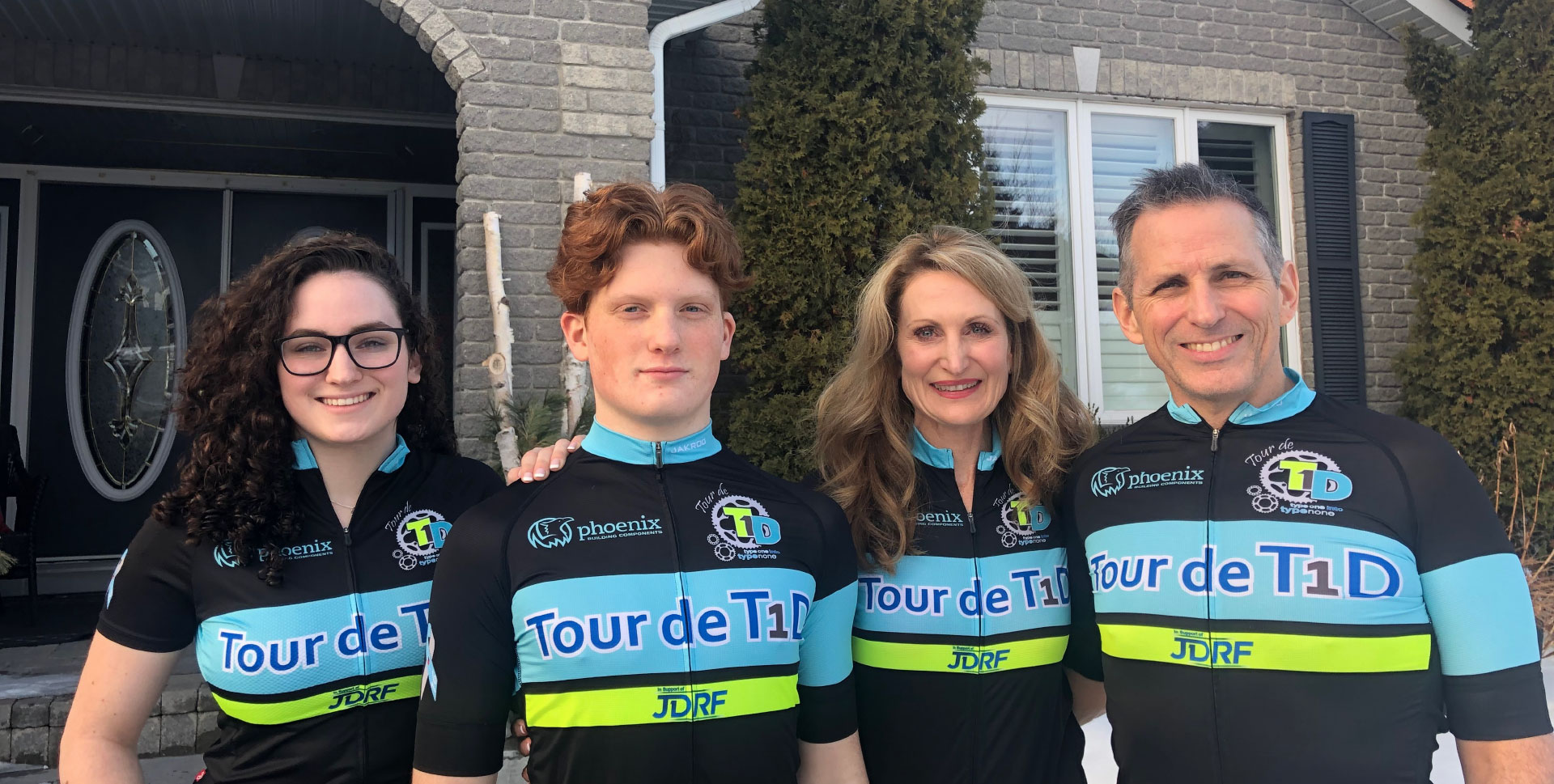 From right to left, Dr. Richard Goudie, Dr. Darlene Newnham, Lukas Goudie, who was diagnosed with Type One Diabetes at age 14, and Grabrielle Goudie.